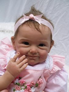 Image 4 - Npk 새로운 도착 55 cm 고품질 자기 젖꼭지 현실적인 수제 아기 인형 살아있는 소녀 사랑스러운 실리콘 reborn bebes 인형