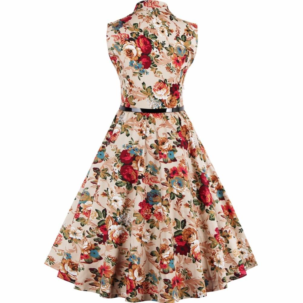 b81f932fdf23a9 Vintage Jurken 60 s 50 s Zomer 2019 Fashion Peter Pan Collar Bloemen Audrey  Hepburn Plus Size Vrouwen Rockabilly Jurk s 3XL 4XL in Vintage Jurken 60 s  50 s ...