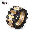 VNOX Кольца для Мужчин Ювелирные Изделия Нержавеющей Стали 12 мм Матовая Закончил 3 Тон Уникальный Кольцо для Мужчин Размер 9 до 12