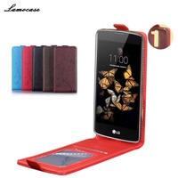 Lamocase Embossing Leather Case For LG K8 Lte K350 K350E K350N 5 0inch Cover Filp Mobile