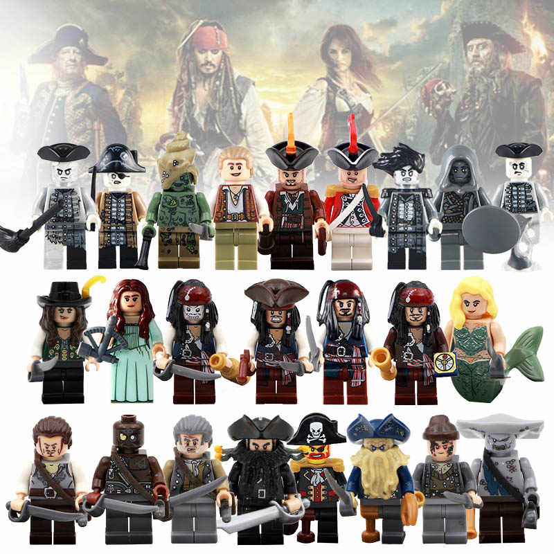 f33abdd44243d Building Block 2018 Single Sale Pirates of the Caribbean Elizabeth Mermaid  Jack Sparrow Action Collection Toys