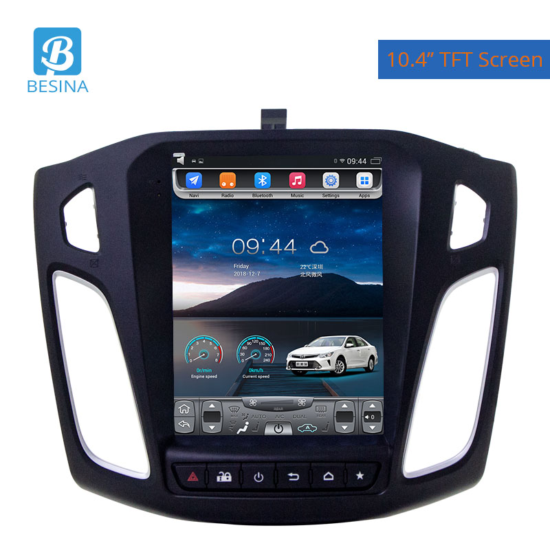 Besina 10.4 inch Android 9.1 Car Radio For <font><b>FORD</b></font> <font><b>FOCUS</b></font> 2012-2015 Multimedia Player GPS <font><b>Navigation</b></font> 4G+64G Stereo Auto Audio image