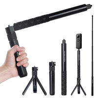 Rotating Stealth Selfie Stick Bullet Time Shooting Rotary Extension Rod Handheld Tripod for Insta360 One X Shooting Kit