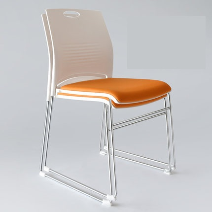 Simple home office chair computer chair solid plastic teaching conference chair the silver chair