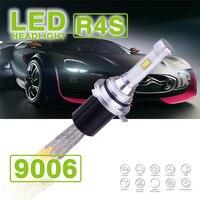 1 Set R4S 9006 HB4 90W 10400LM LED Headlights Super Slim Kits Driving Fog Lamp Bulbs 45W 5200LM Replace HID Xenon Halogen 12/24V