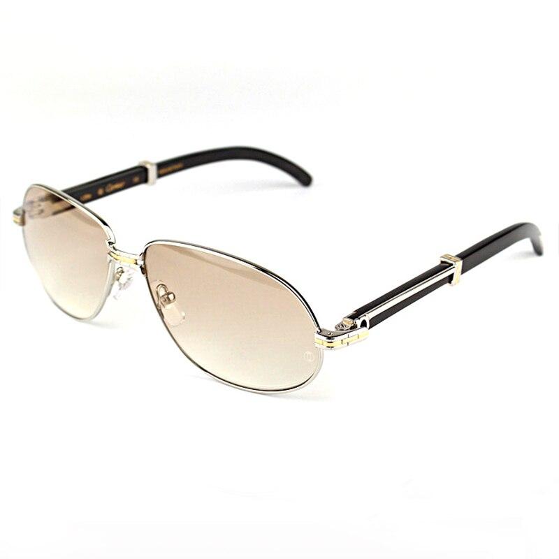 Vintage lunettes de soleil hommes 2018 luxe bois hommes lunettes de soleil marque Designer Carter lunettes cadre verre clair remplir Prescription