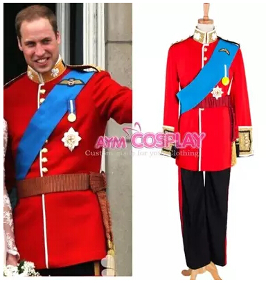 Made The Royal Prince of William Cosplay Costume Men Halloween Outfit wedding Custom Suit For Adult