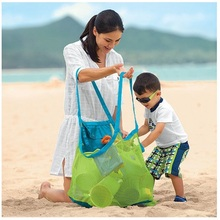 1Pcs Beach Bag Mesh Stay Away From Sand Durable  Indoor Outdoor Portable Hand Bag Swimming Sport Toys Storage For Children Kids