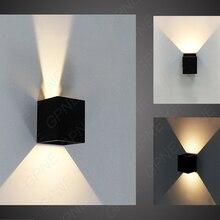 IP65 для регулируемый поверхностного монтажа наружных светодиодных освещение, светодиодные открытый настенный светильник, вверх, вниз вела настенный светильник