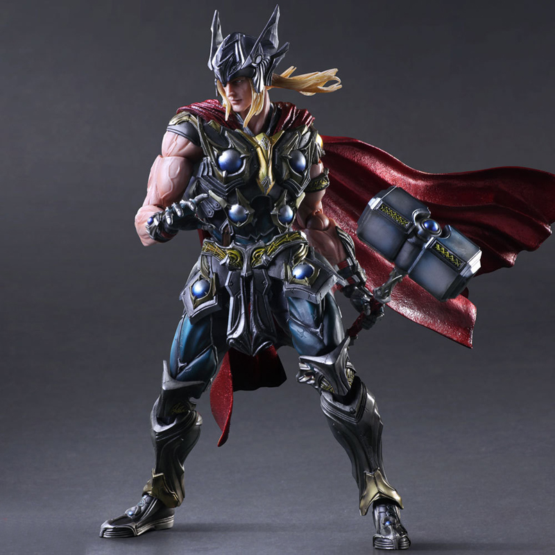 27cm Play Arts Kai Movable Figurine Superhero Thor Odinson PVC Action Figure Toy Doll Kids Adult Collection Model Gift 27cm play arts kai movable figurine superhero thor odinson pvc action figure toy doll kids adult collection model gift