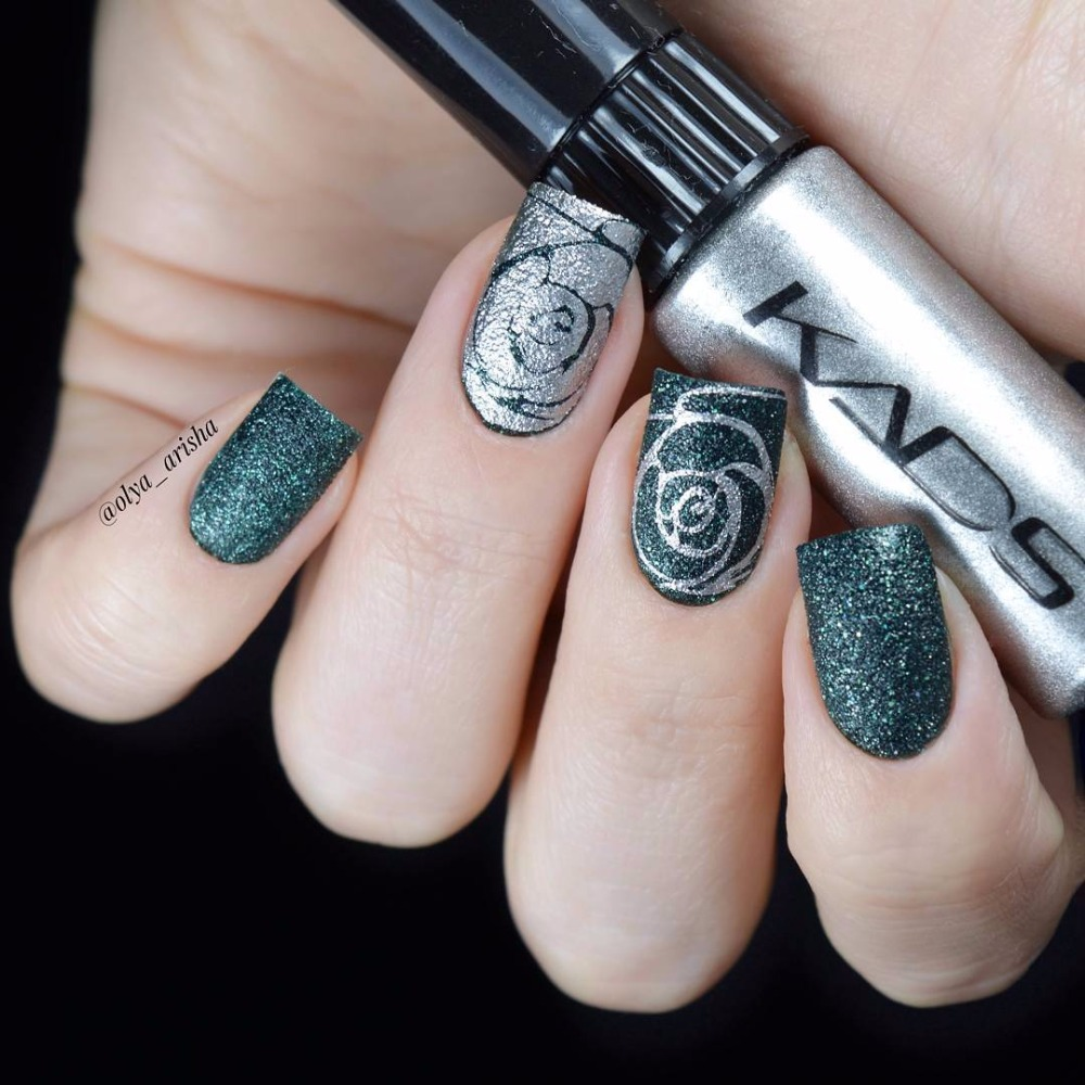 KADS Stamping nail lacquer 6 Flaschen/LOT Regelmäßige Nagellack ...