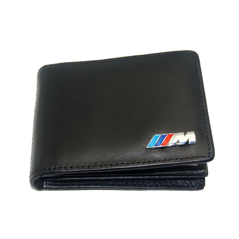 M Car Drivers License Holder Bag Black Leather Credit Card Bag Case For Bmw E60 E90 F10 E64 E65