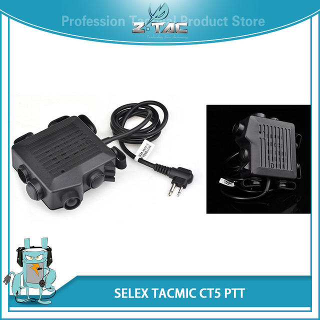 US $22 91 30% OFF Z Tactical PTT SELEX ACMIC CT5 For Headphones Softair 6  Different Plug Headset Accessories Airsoft Kenwod Midland PTT Z133-in