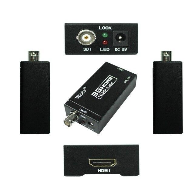 Wiistar HDMI إلى SDI محول الفيديو BNC SDI/HD SDI/3G SDI داعم محول 1080P للكاميرا المسرح المنزلي
