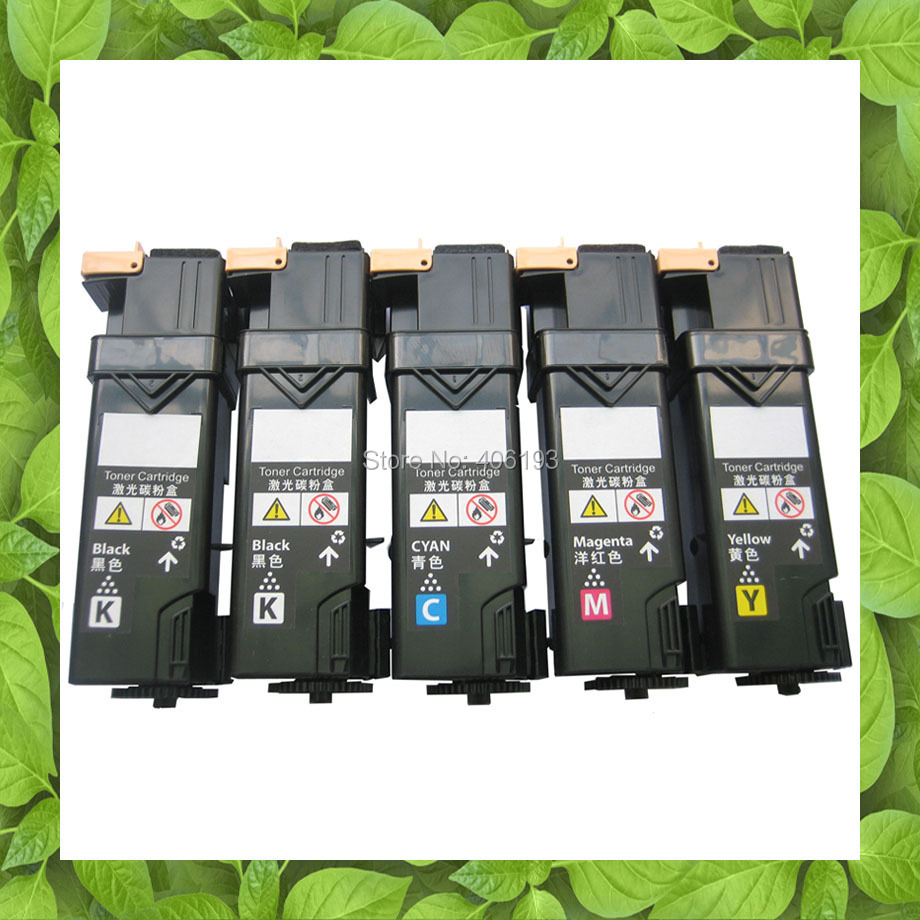 5 X Compatible for Fuji Xerox Docuprint CP305d CP305 CM305df CM305 color toner cartridge CT201632 CT201633