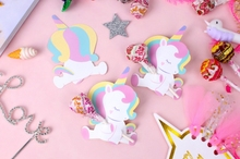 50pcs/pack Baby Unicorn Lollipop Decoration Cards and cartoon little animal lollipop decorated paper for Guest Cartoon