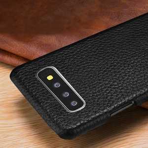 Image 3 - Sprawa dla Samsung Galaxy S10 S8 S9 Plus S10e skórzany pokrowiec luksusowe liczi Fundas pokrywa dla Samsung S10 S9 S8 Plus przypadki