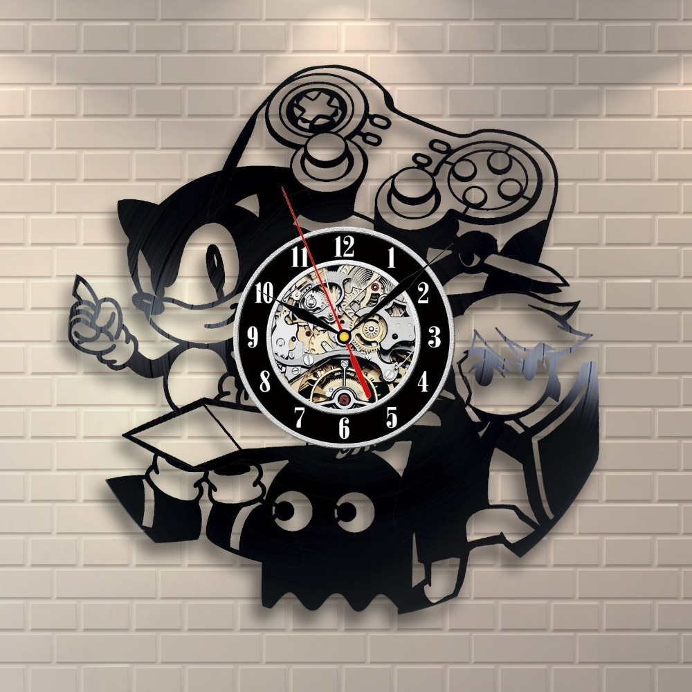 Sonic Game Vinyl Record Wall Clock Decorate Your Home With