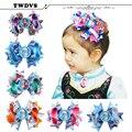 TWDVS Baby Girls Hair Bows Hair Pins Princess Elsa Anna Ribbon With Alligator Clip Kids Hair Accessories H020