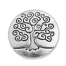 50 pcs Metal Tree Of Life Buttons Pattern Engraved Silver Color Jeans Vintage Sewing Scrapbooking Crafts New Hot