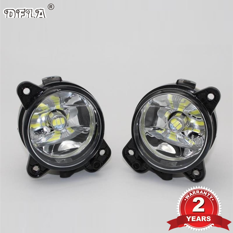 DFLA For VW Transporter Multivan Caravelle T5 2003 2004 2005 2006 2007 2008 2009 2010 Car Styling Front LED Fog Light Fog Lamp 2x 9006 hb4 led projector fog light drl 12w no error for volkswagen golf 6 mk6 2011 2012 scirocco 08 on t5 transporter 2003 2016