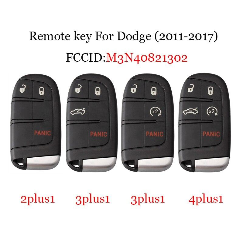 433Mhz Remote Car key For Jeep Dodge Chrysler M3N40821302 Transponder Chip ID46 PCF7935 For Dodge 2011