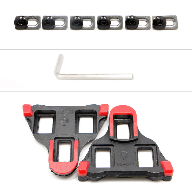 2 pcs Road Bike Cycling Self locking Pedal Cleats Set For Shimano SM SH11 SPD SL in Bicycle Pedal from Sports Entertainment