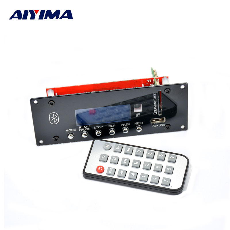 AIYIMA Bluetooth 4.0 HIFI Audio Accessories Lossless Support U Disk SD LCD Display FM Audio Decoder Board