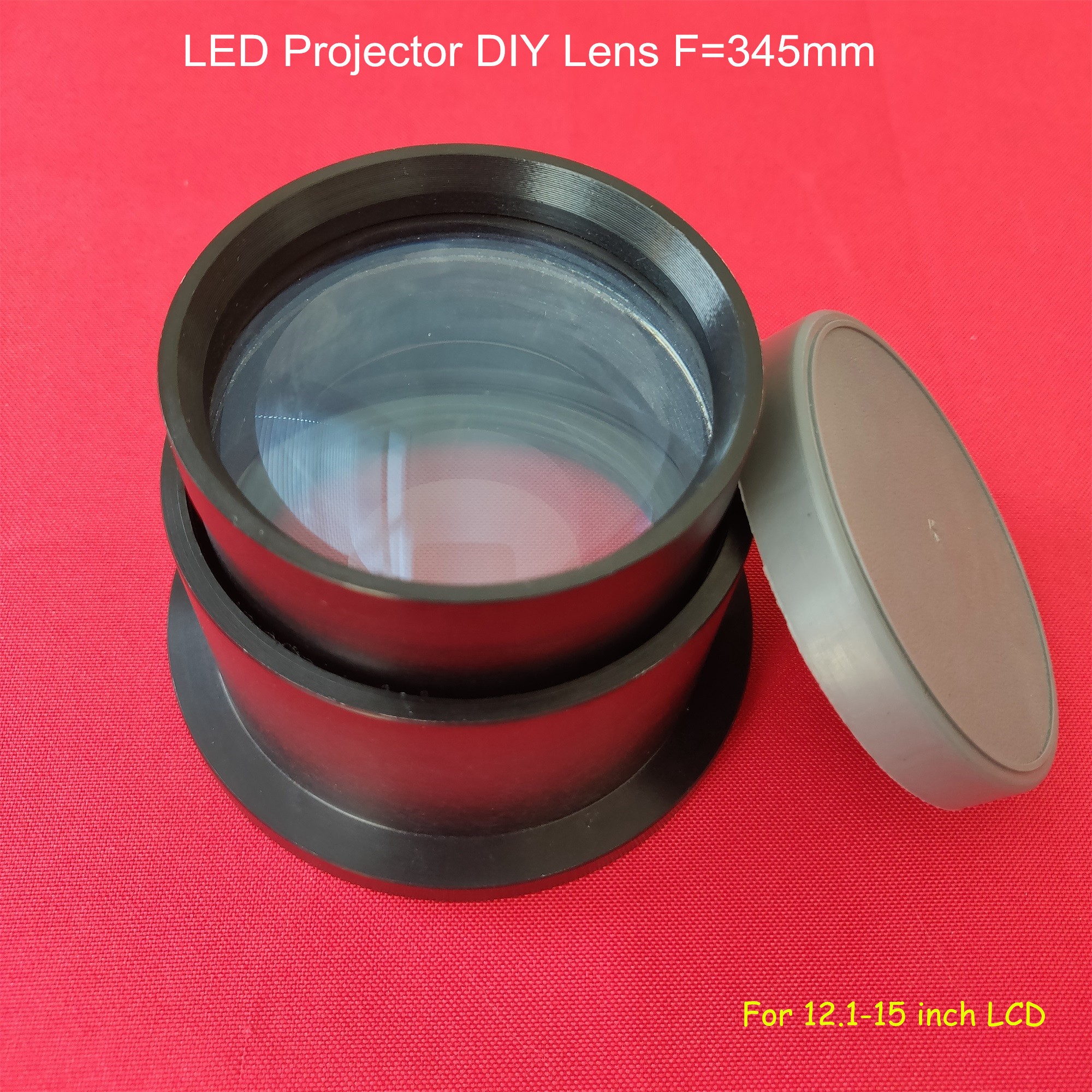 General Use Projection Diy Lens LED Projection DIY Parts F=345mm For Projection LCD 12.1-15 Inch