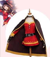Megumin Cosplay KonoSuba God's Blessing on this Wonderful World Costume Megumin Cosplay Women Costume magic girls outfit