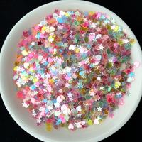 Wholesale Mixed Colors 3 4mm star Heart shape sequin PVC loose Sequins Paillettes Nail Art manicure/wedding decoration confetti