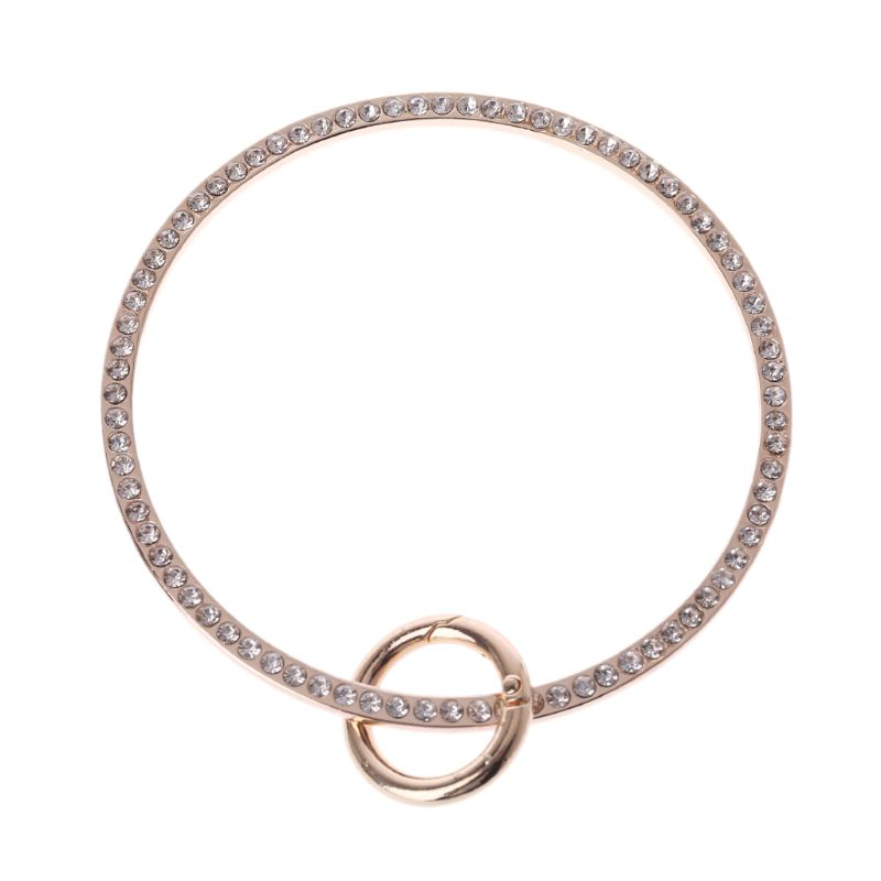 Fashion Ring Design Metal Rhinestone Purse Handle For Bag Making Handle Replacement DIY Crafts For Bag Accessories