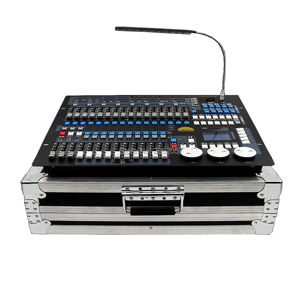 Good quality 1024 dmx controller DJ computer professional stage light controller moving head beam light console with fly case 2016 original kingkong 1024s light controller 1024 dmx512 control 120pcs stage lights professional dj disco moving light console