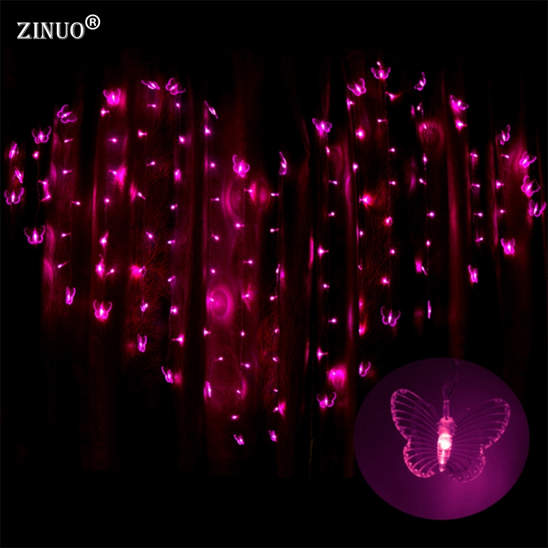 Purple Heart String Lights : ZINUO Heart Shape 2M x1.4M Love LED String Light Warm White/Purple/Pink Christmas LED Fairy ...