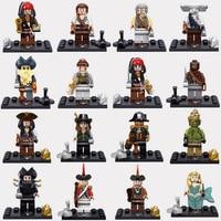 Pirates Of The Caribbean Figures Captain Jack Edward Mermaid Davy Jones Black Pearl Building Blocks Models