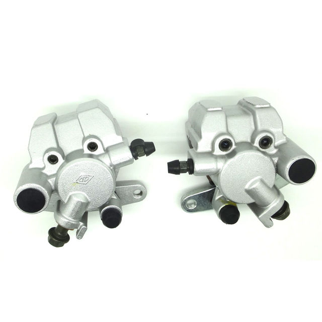 Front Brake Caliper Set For YA MAHA GRIZZLY 600 YFM600F 1998-2002 WITH PADS