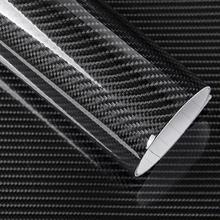 Car Styling Glossy Black 6D Carbon Fiber Vinyl film Car Wrap 6D Carbon foil Glossy lines DIY Car Tuning Sticker цена и фото