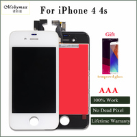 Mobymax 3pcs All Test Work Perfect LCD Display For IPhone 4 4s Touch Screen Digitizer Assembly