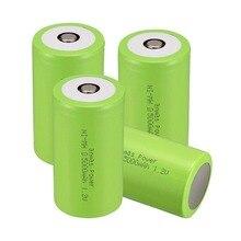 Russa Vendedor! COR Verde Nova Chegada! 4 PCS Tamanho D 5000 MAH 1.2 V Ni-mh Bateria Recarregável