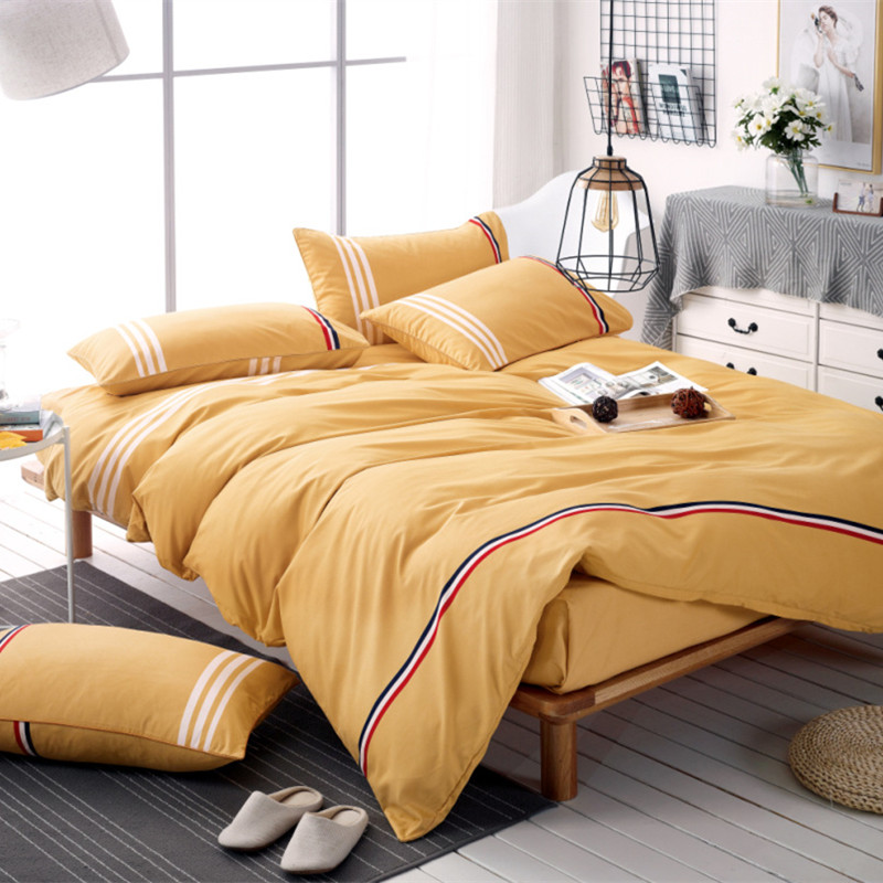 3 4pcs 100 Polyester Brief Bedding Set Twin Full Queen