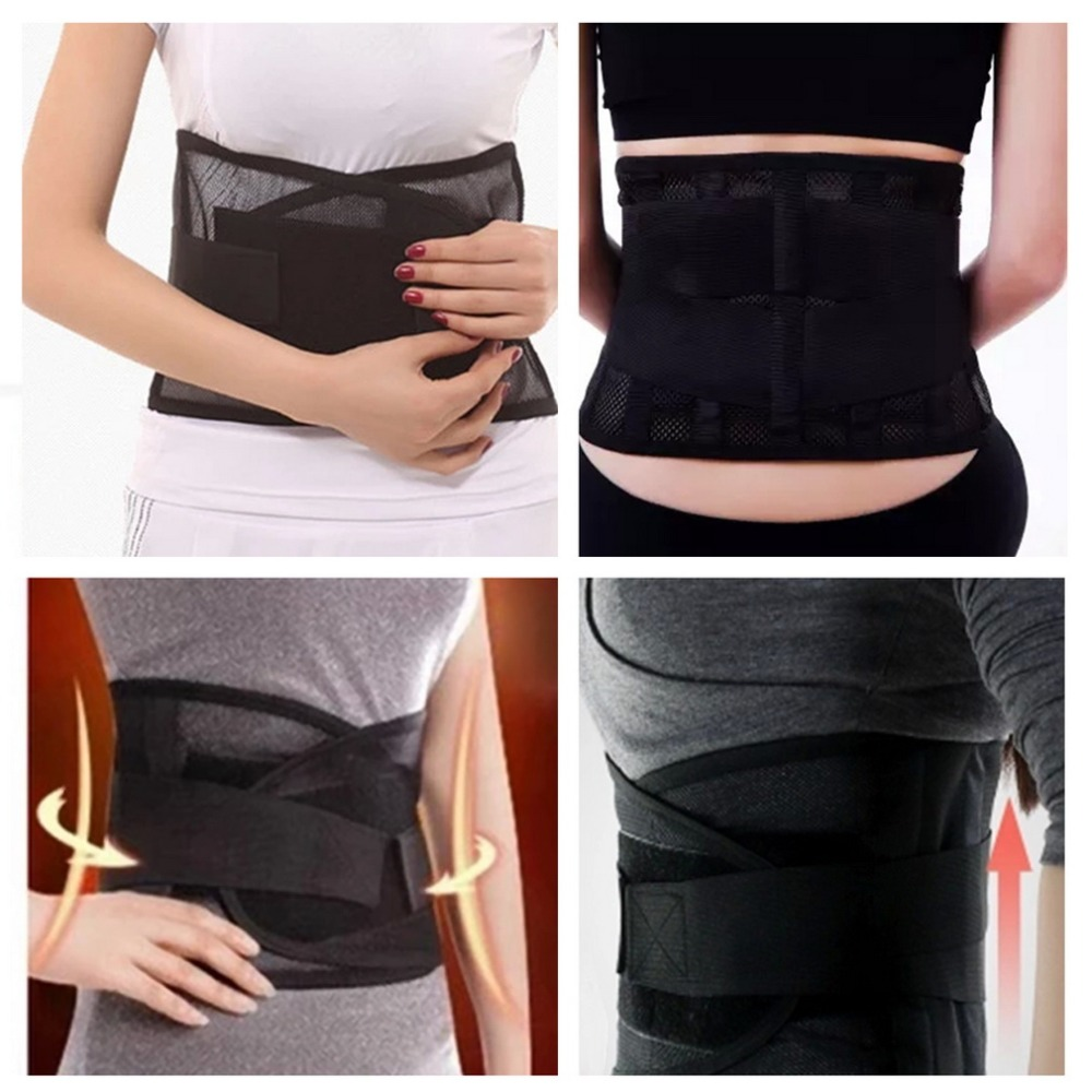 Adjustable Tourmaline Magnetic Therapy Steel Waist Belt Lumbar Support Back Support Brace Double Banded Lumbar Hot Selling