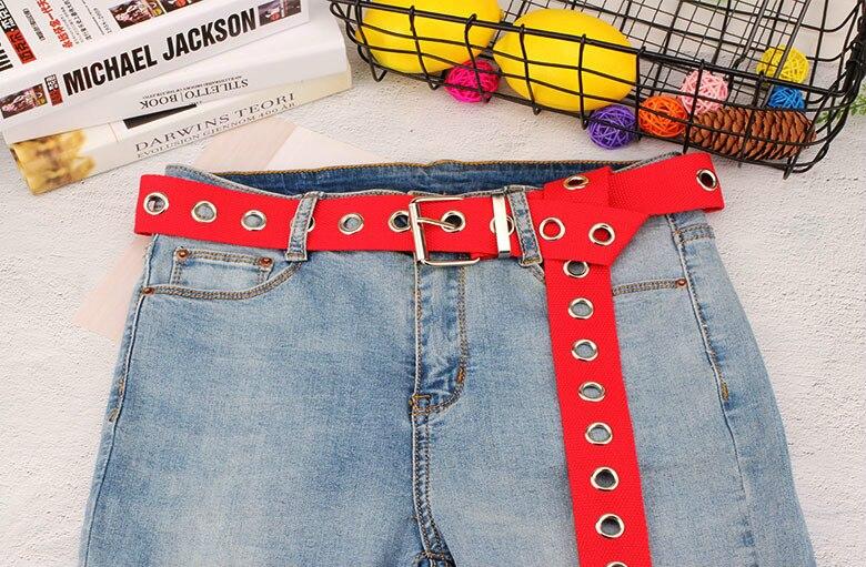 Длинные личности Harajuku кольцо в стиле casual черного цвета с металлическим ремнем и студентов из парусиновой джинсовой ткани талии Ремни прилив серебряной пряжкой