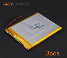 3pcs/Lot 3.7V 2800mAh Rechargeable li Polymer Li-ion Battery For Bluetooth Notebook Tablet PC Consumer electronics 606580 066580