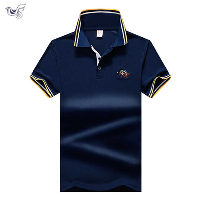 XIYOUNIAO New men   Polo   Shirt Mens horse race Embroidery Cotton   Polo   shirt Men Short Sleeve High Quantity   polo   men shirt 7XL 8XL