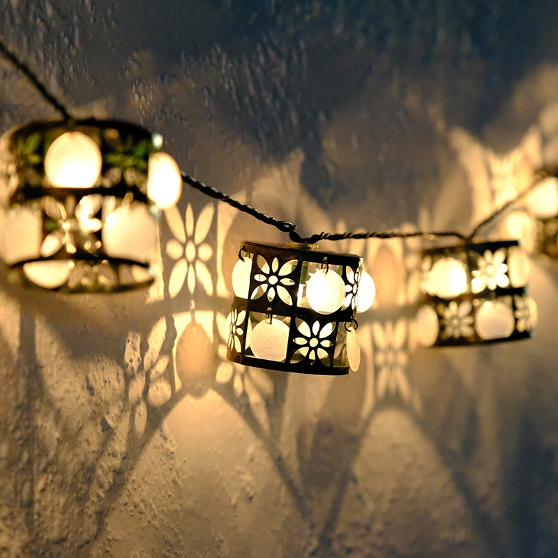 20Led Fairy Retro Cylindrical Lantern Battery Operated String Lights 3m LED Decoration For Christmas Garland New