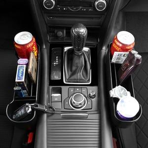 Image 2 - Car Accessories Storage Box Auto Organizer Seat Gap Case Pocket Car Seat Side Slit for Wallet Phone Coins Cigarette Keys Cards