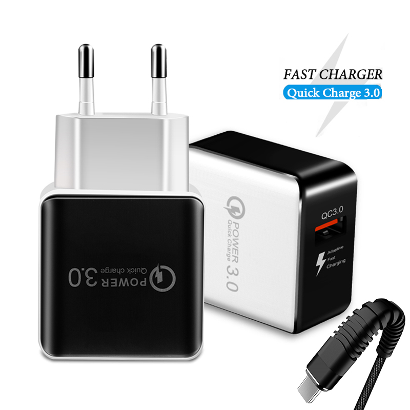 Quick Charge 3.0 Fast USB Charger Universal Mobile Phone Charger for Samsung Xiaomi Huawei iphone USB c Adapter Tablet connector
