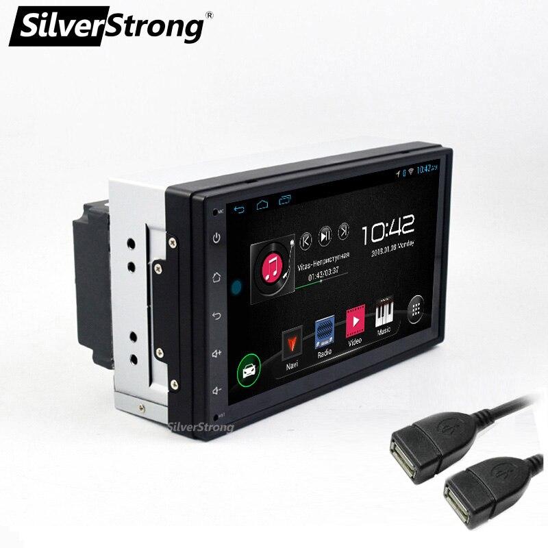 SilverStrong QuadCore 7 2DIN Android9 0 Car DVD LADA Granta Universal Radio RDS MirroringLink 2 DIN
