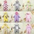 2016 novo inverno e primavera macacão de bebê engrosse quente algodão infantil bebê roupas de bebê menino menina roupas de bebe roupas meninos