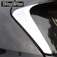 FOR Toyota Highlander ABS CHROME SIDE DOOR REAR VIEW WINDOW SPOILER COVER TRIM Rear door window both sides decoration covers|window side|trim cover|side trim -